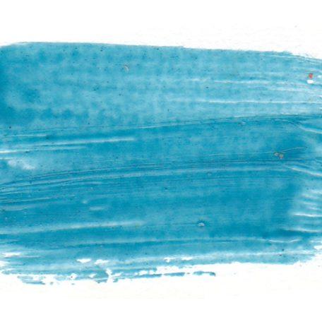 Echantillon de peinture encaustique Bleu cobalt turquoise pur + médium + blanc