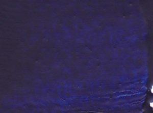 Echantillon de couleur bleu phtalo pour la peinture à l'encaustique. Composition : cire d'abeille, résine damar, pigment.
