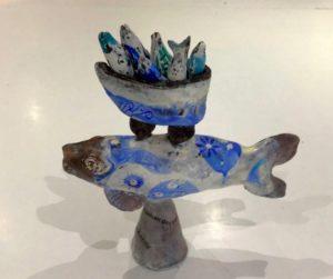 Céramique peinte à l'encaustique - Sophie Van Moffaert